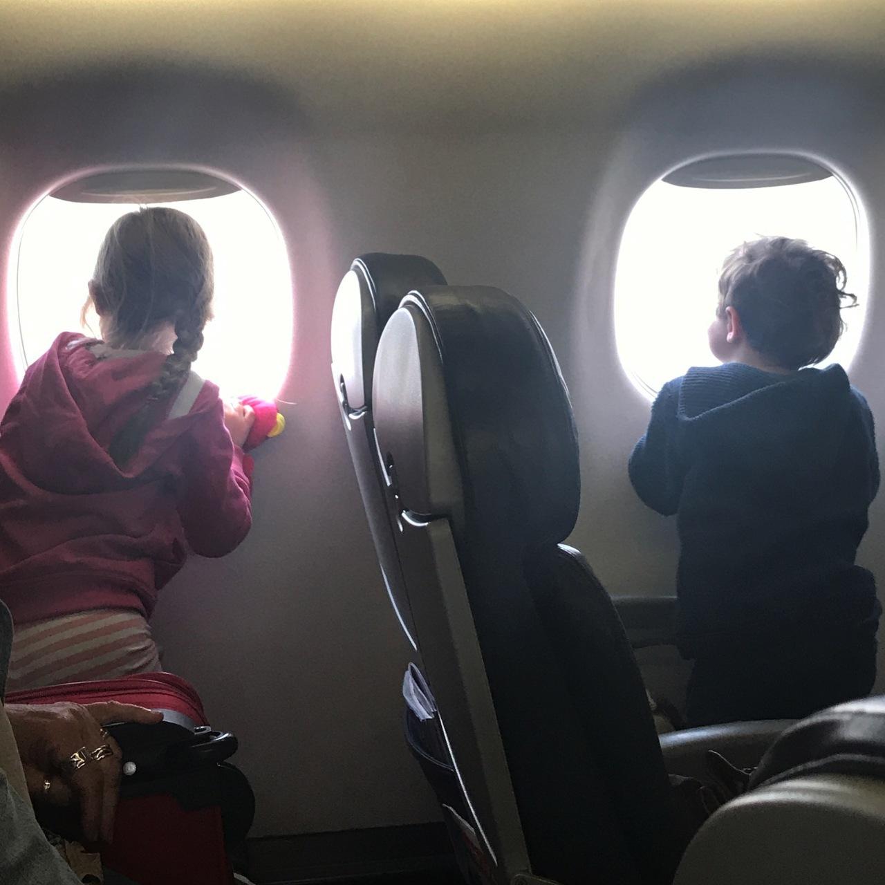 millieandaustin airplane