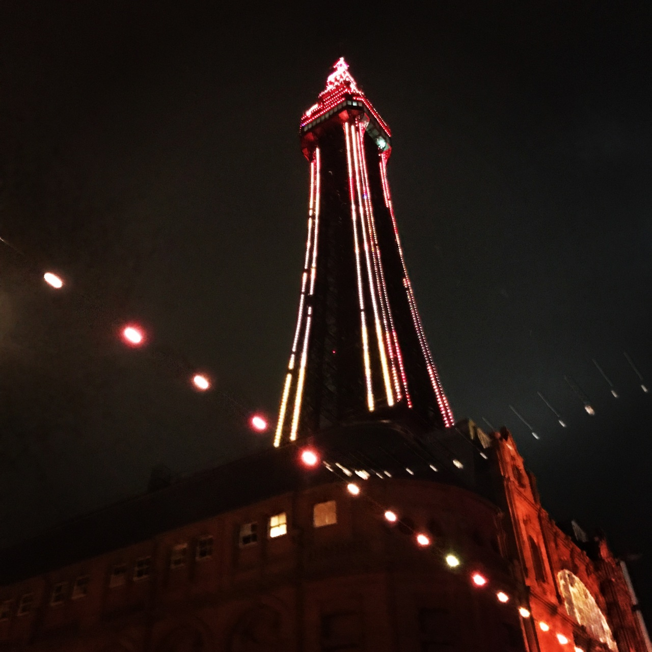 tower lit up
