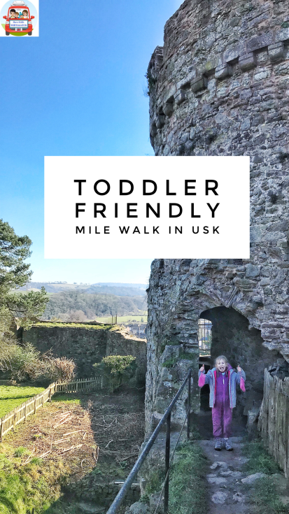 toddler hike friendly mile walk usk castle river south wales newport tunnel
